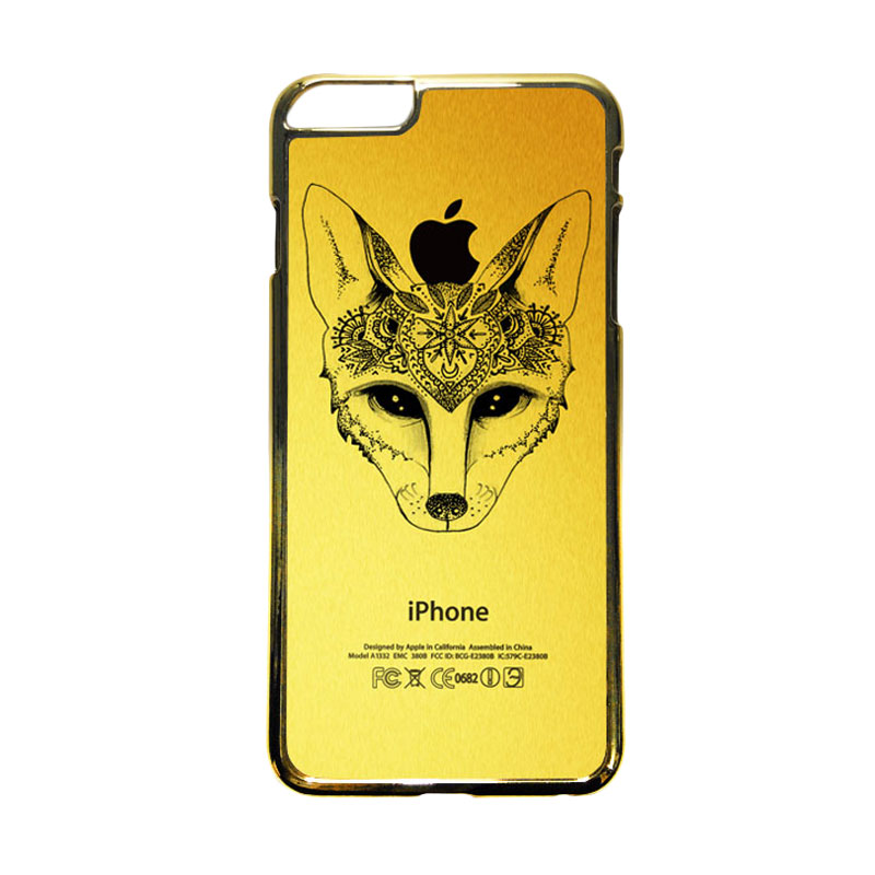 HEAVENCASE Motif Apple Gold 19 Casing for iPhone 6 Plus  or iPhone 6s Plus - Emas