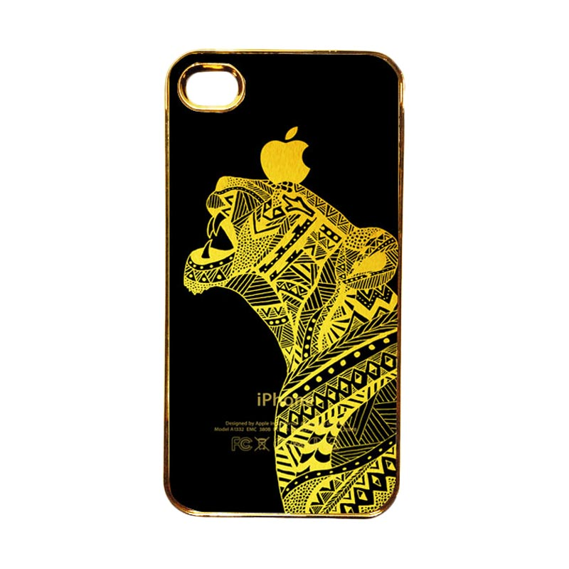 Heavencase Motif Apple Gold 20 Casing for iPhone 4 or iPhone 4s - Gold