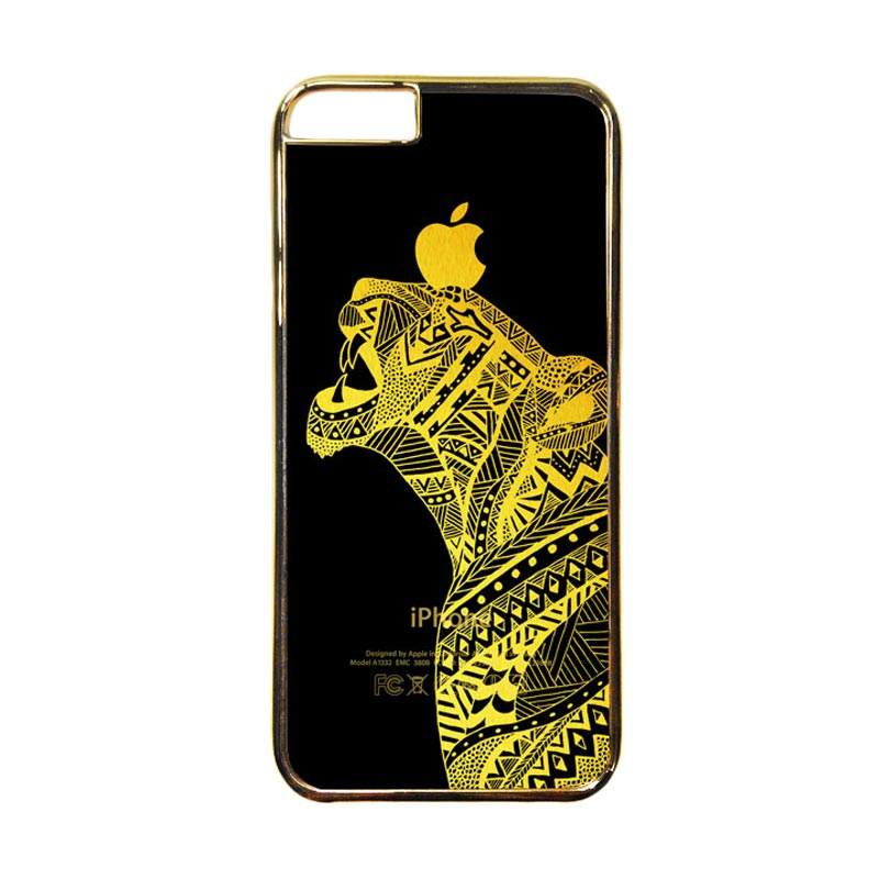 HEAVENCASE Motif Apple Gold 20 Casing for iPhone 6 or iPhone 6s - Emas
