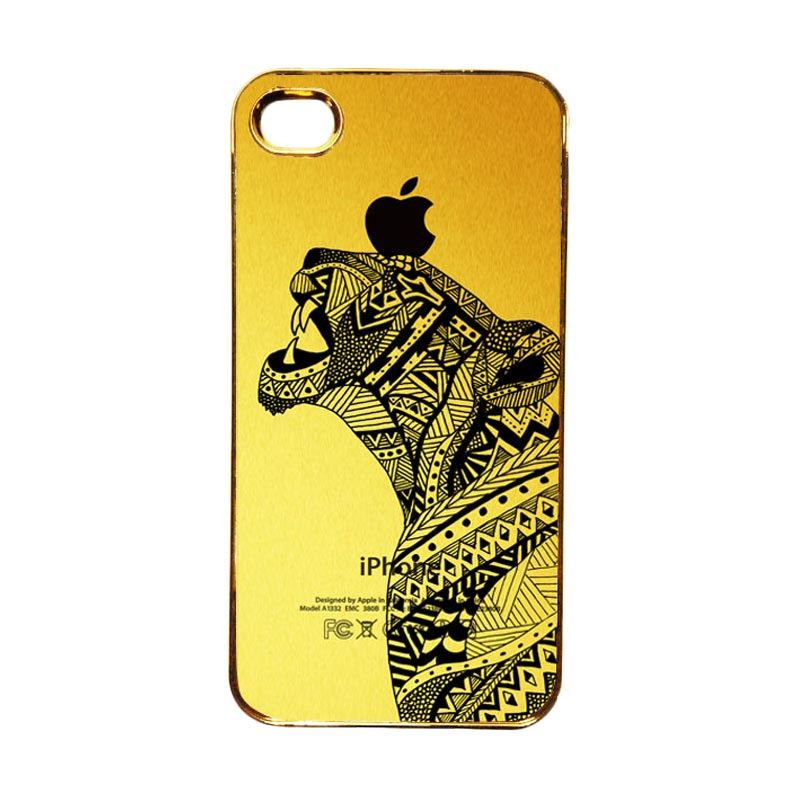Heavencase Motif Apple Gold 21 Casing for iPhone 4 or iPhone 4s - Gold
