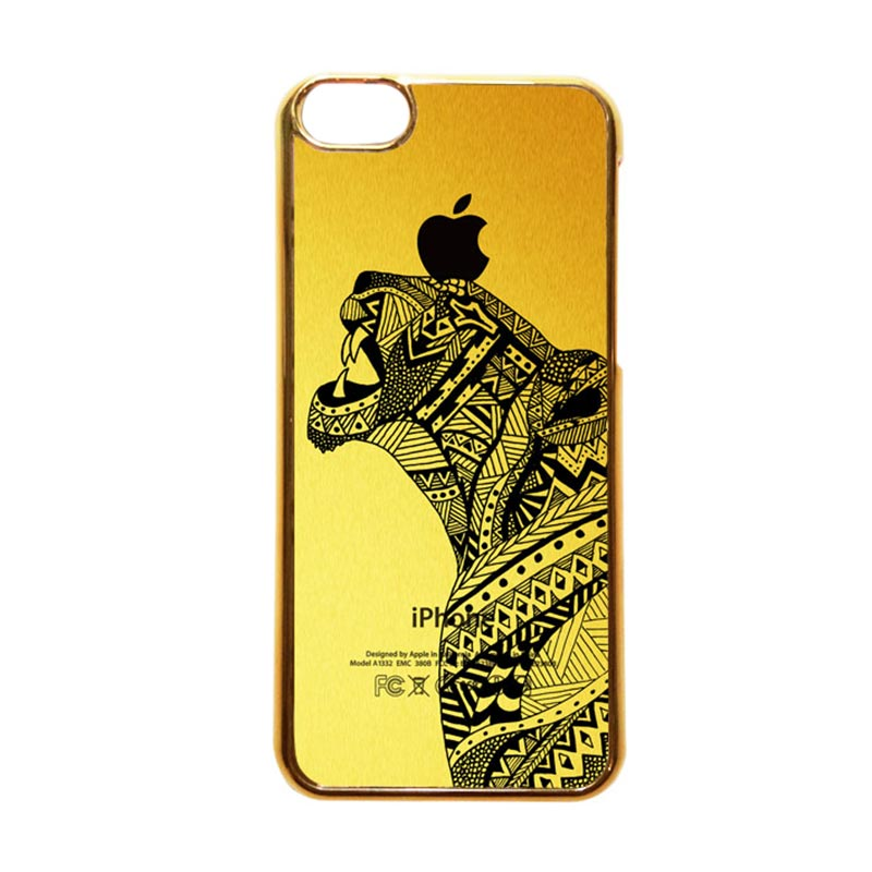 Heavencase Motif Apple Gold 21 Casing for iPhone 5c - Gold