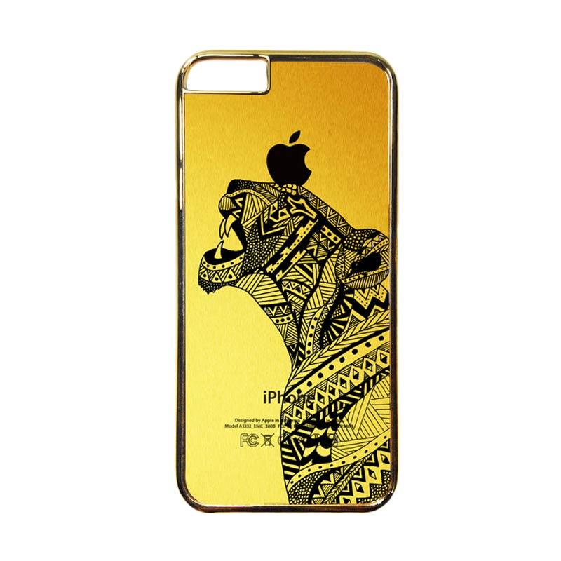 HEAVENCASE Motif Apple Gold 21 Casing for iPhone 6 or iPhone 6s - Emas