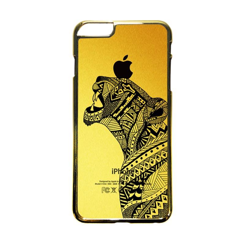 HEAVENCASE Motif Apple Gold 21 Casing for iPhone 6 Plus or iPhone 6s Plus - Emas
