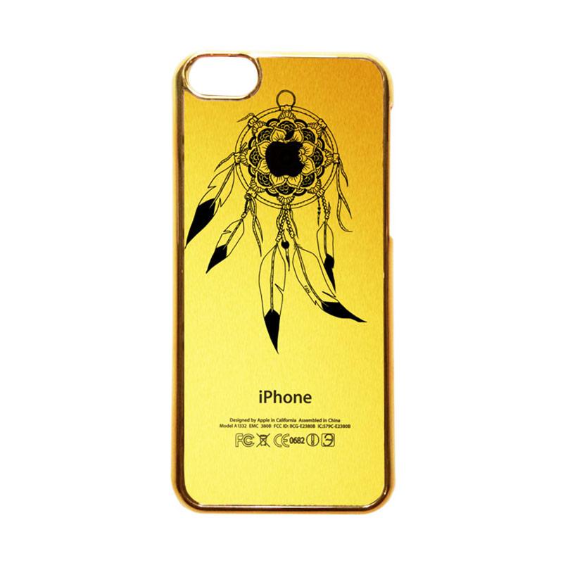 Heavencase Motif Apple Gold 22 Casing for iPhone 5c - Gold