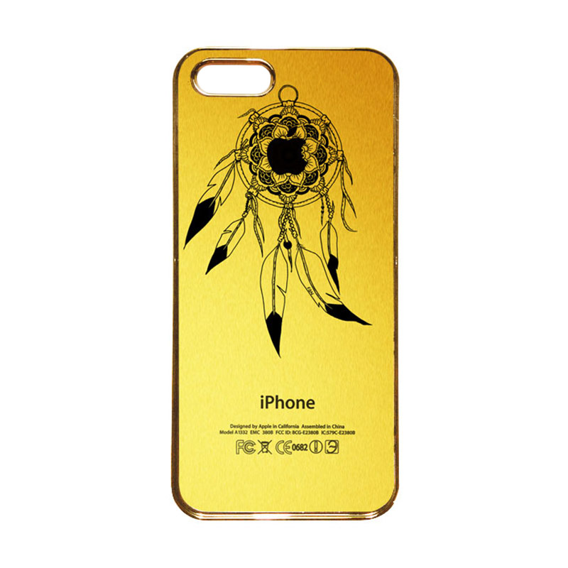Heavencase Motif Apple Gold 22 Casing for iPhone 5s or iPhone 5 - Gold