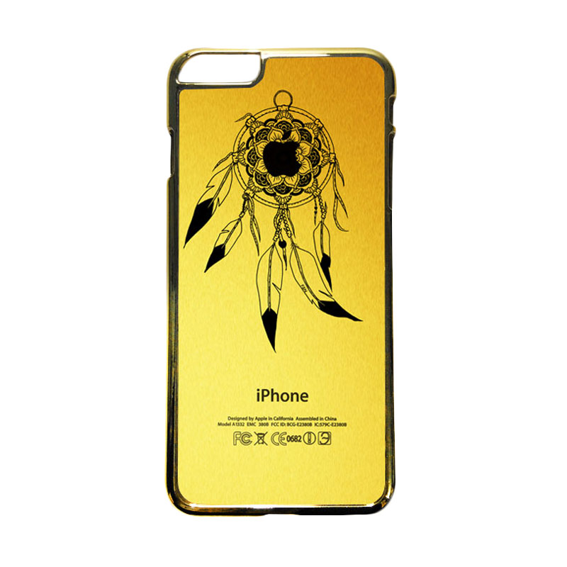 HEAVENCASE Motif Apple Gold 22 Casing for iPhone 6 Plus  or iPhone 6s Plus - Emas