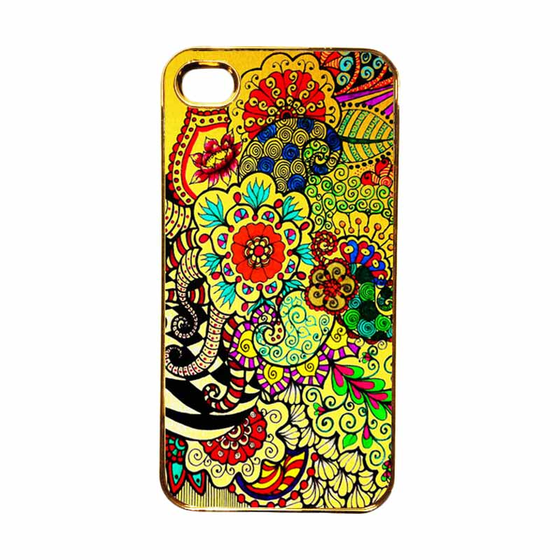 Heavencase Motif Apple Gold 23 Casing for iPhone 4 or iPhone 4s - Gold