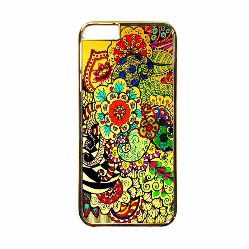 HEAVENCASE Motif Apple Gold 23 Casing for iPhone 6 or iPhone 6s - Emas