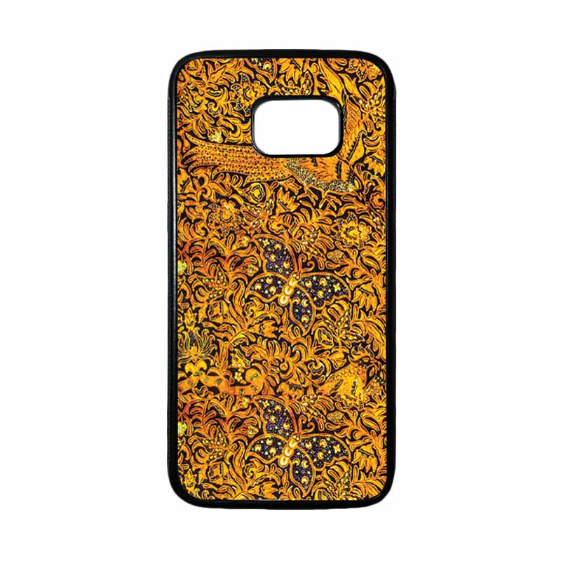 HEAVENCASE Motif Batik Bunga 01 Casing for Samsung Galaxy S7 Edge - Hitam