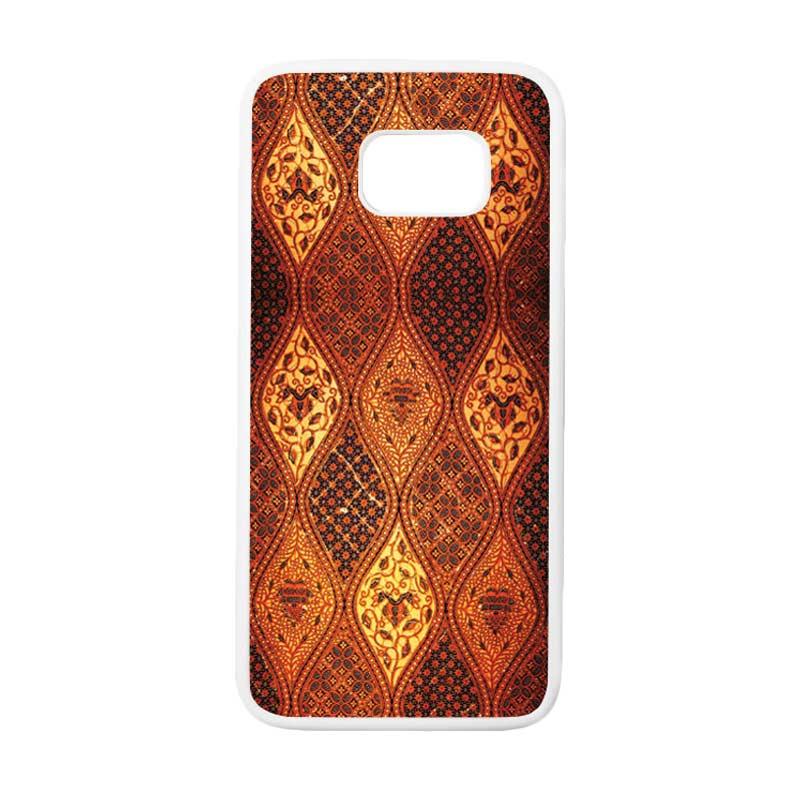 HEAVENCASE Motif Batik Bunga 02 Casing for Samsung Galaxy S7 Edge - Putih