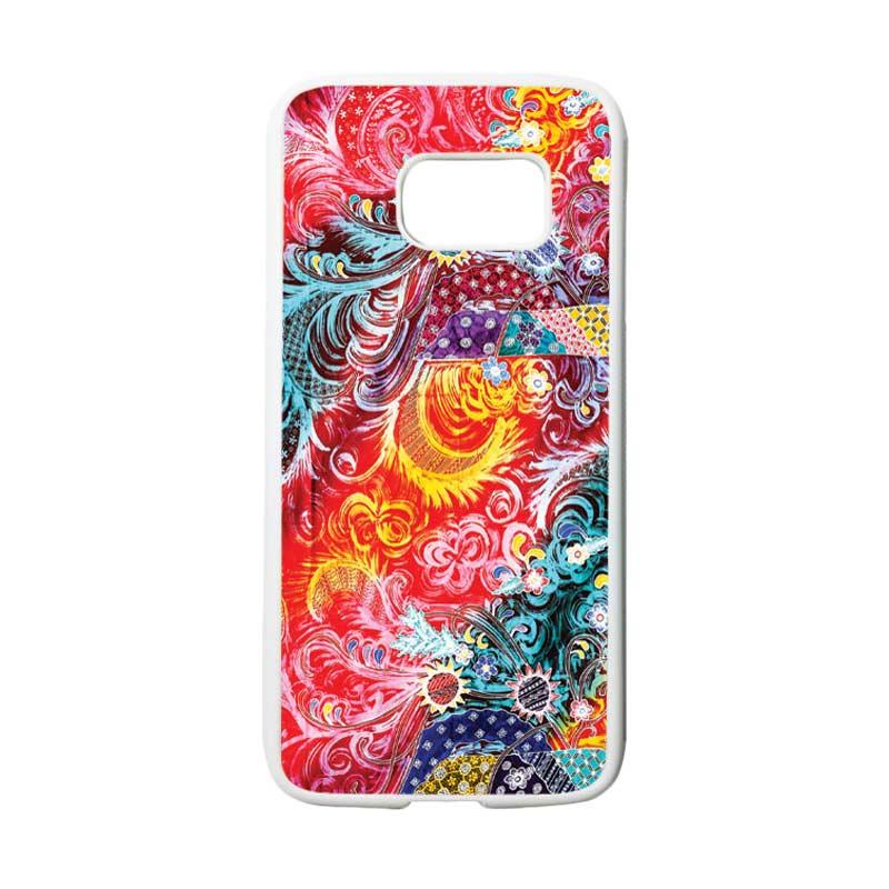 HEAVENCASE Motif Batik Bunga 04 Casing for Samsung Galaxy S7 - Putih