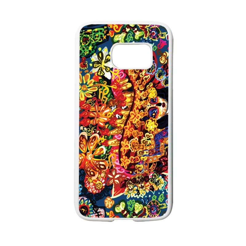 HEAVENCASE Motif Batik Bunga 07 Casing for Samsung Galaxy S7 - Putih