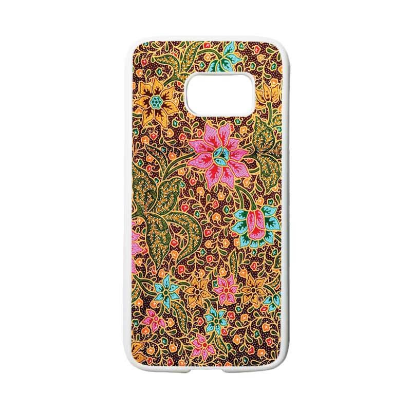 HEAVENCASE Motif Batik Bunga 08 Casing for Samsung Galaxy S7 - Putih