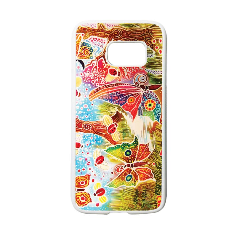 HEAVENCASE Motif Batik Bunga 09 Casing for Samsung Galaxy S7 - Putih