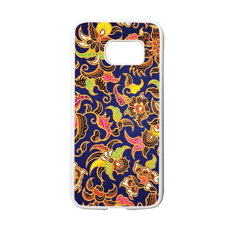HEAVENCASE Motif Batik Bunga 10 Casing for Samsung Galaxy S7 - Putih