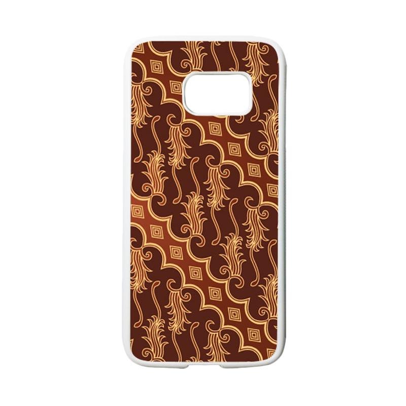 HEAVENCASE Motif Batik Bunga 12 Casing for Samsung Galaxy S7 - Putih