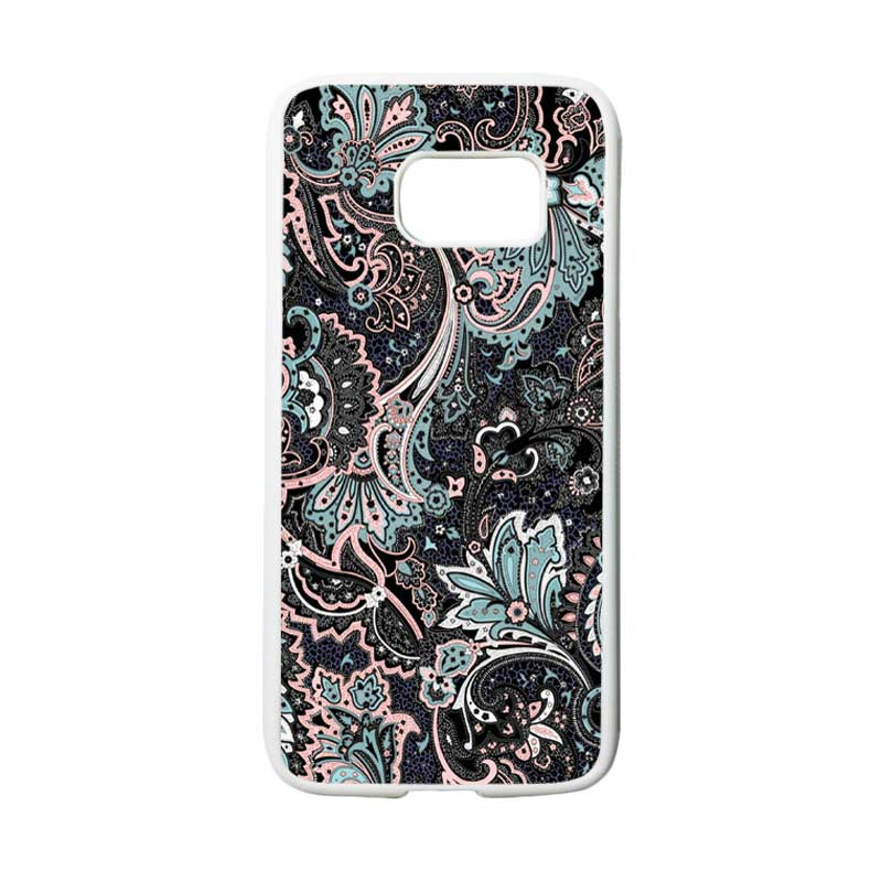 harga HEAVENCASE Motif Batik Bunga 14 Casing for Samsung Galaxy S7 - Putih Blibli.com