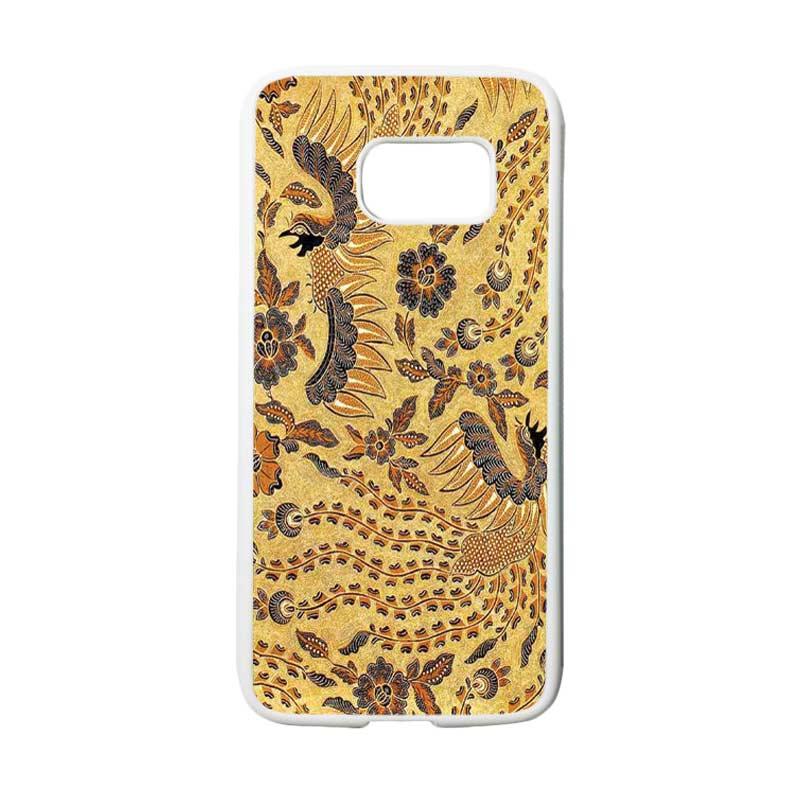 HEAVENCASE Motif Batik Bunga 17 Casing for Samsung Galaxy S7 - Putih