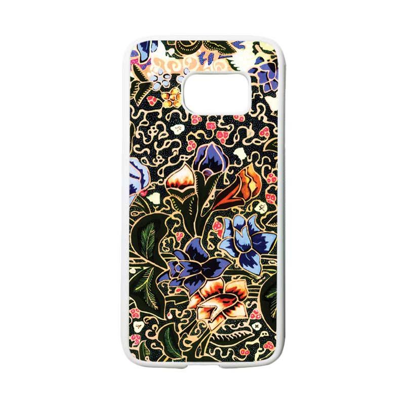 HEAVENCASE Motif Batik Bunga 20 Casing for Samsung Galaxy S7 - Putih