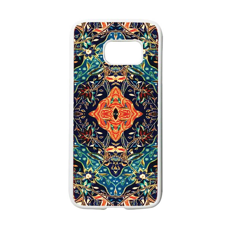 HEAVENCASE Motif Batik Bunga 21 Casing for Samsung Galaxy S7 - Putih