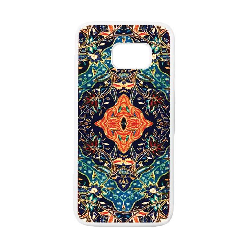 HEAVENCASE Motif Batik Bunga 21 Casing for Samsung Galaxy S7 Edge - Putih