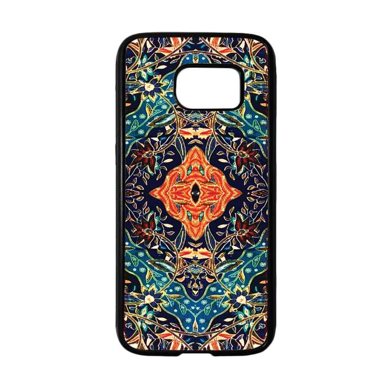 HEAVENCASE Motif Batik Bunga 21 Softcase TPU Bumper Casing for Samsung Galaxy S7 - Hitam