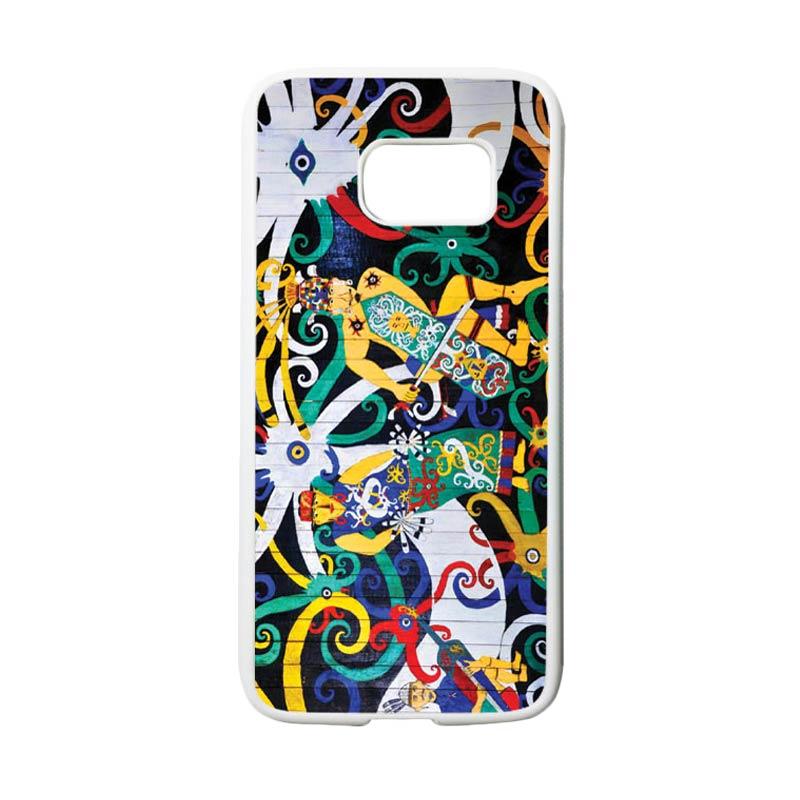 HEAVENCASE Motif Batik Bunga 22 Casing for Samsung Galaxy S7 - Putih