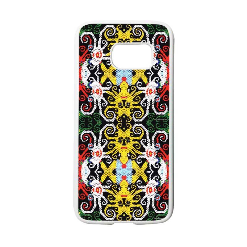 HEAVENCASE Motif Batik Bunga 23 Casing for Samsung Galaxy S7 - Putih