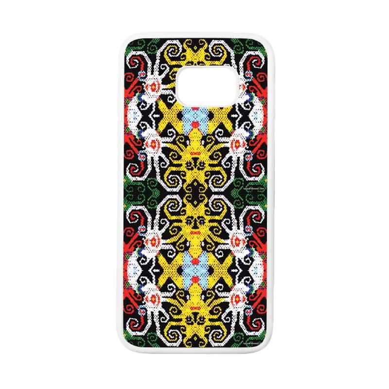 HEAVENCASE Motif Batik Bunga 23 Casing for Samsung Galaxy S7 Edge - Putih