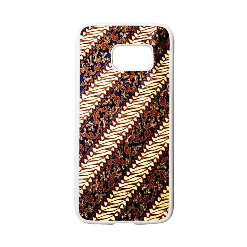 HEAVENCASE Motif Batik Bunga 25 Casing for Samsung Galaxy S7 - Putih