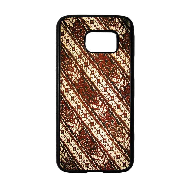 HEAVENCASE Motif Batik Bunga 26 Casing for Samsung Galaxy S7 - Hitam