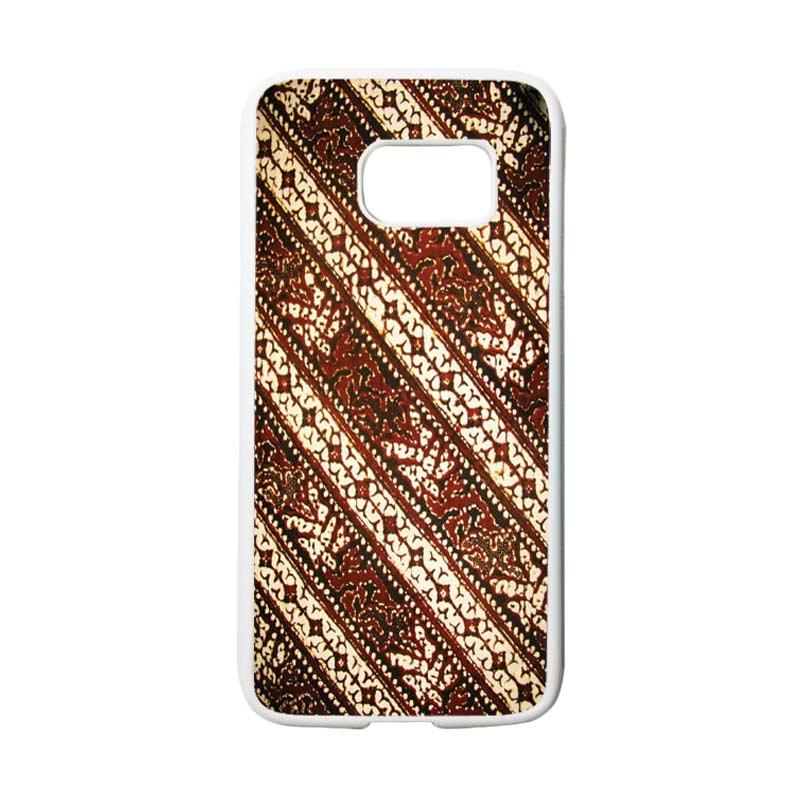 HEAVENCASE Motif Batik Bunga 26 Casing for Samsung Galaxy S7 - Putih