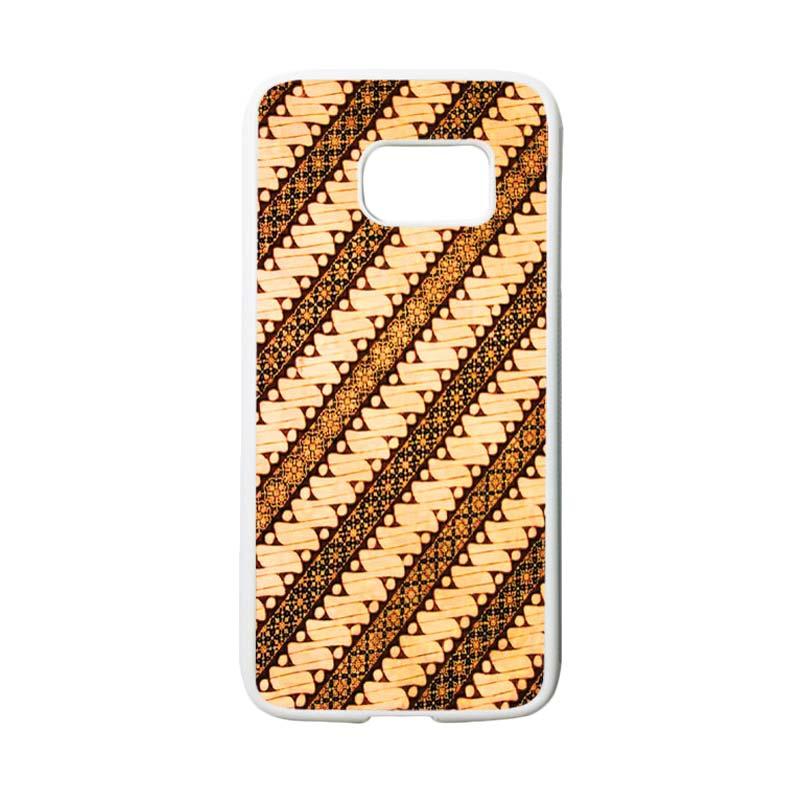 HEAVENCASE Motif Batik Bunga 27 Casing for Samsung Galaxy S7 - Putih