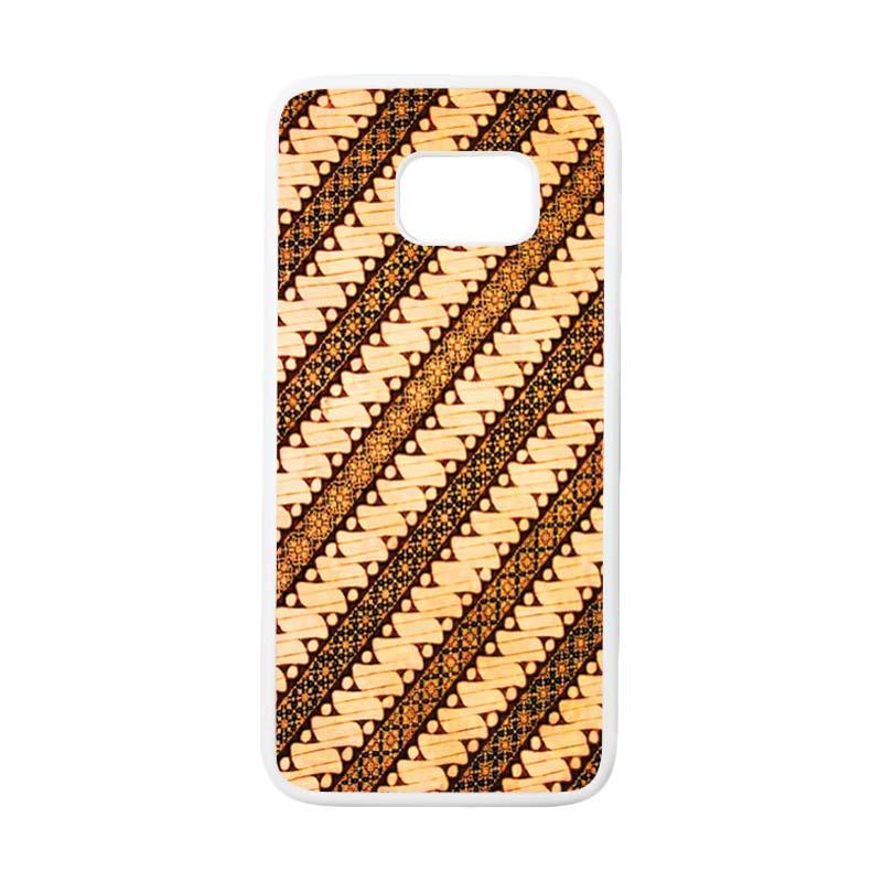 HEAVENCASE Motif Batik Bunga 27 Casing for Samsung Galaxy S7 Edge - Putih