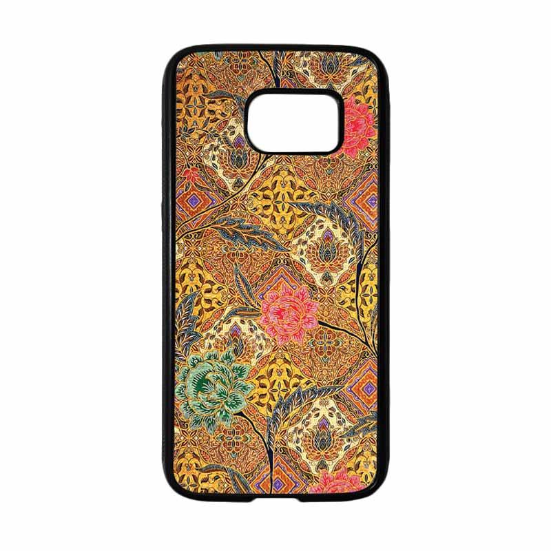 HEAVENCASE Motif Batik Bunga 29 Casing for Samsung Galaxy S7 - Hitam