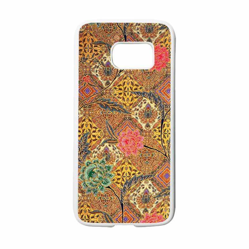 HEAVENCASE Motif Batik Bunga 29 Casing for Samsung Galaxy S7 - Putih