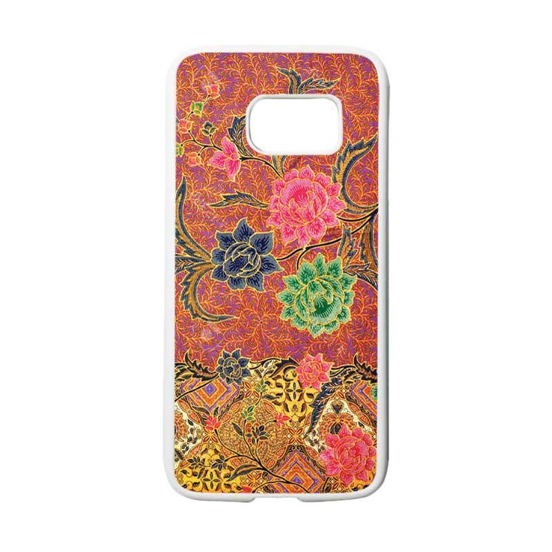 HEAVENCASE Motif Batik Bunga 30 Casing for Samsung Galaxy S7 - Putih
