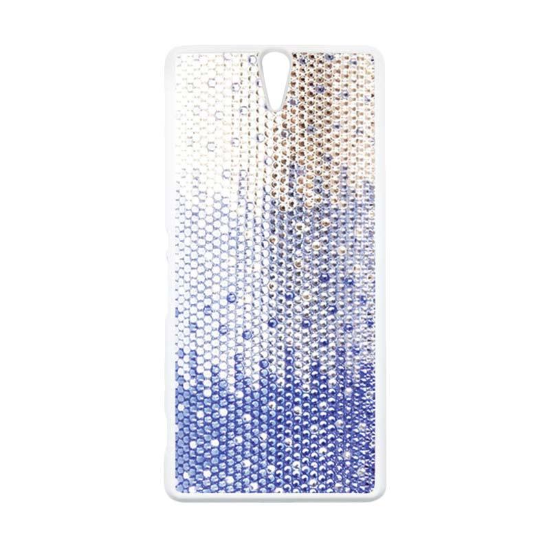 Heavencase Motif Batik Kayu Bokeh 01 Putih Hardcase Casing for Sony Xperia C5 Ultra
