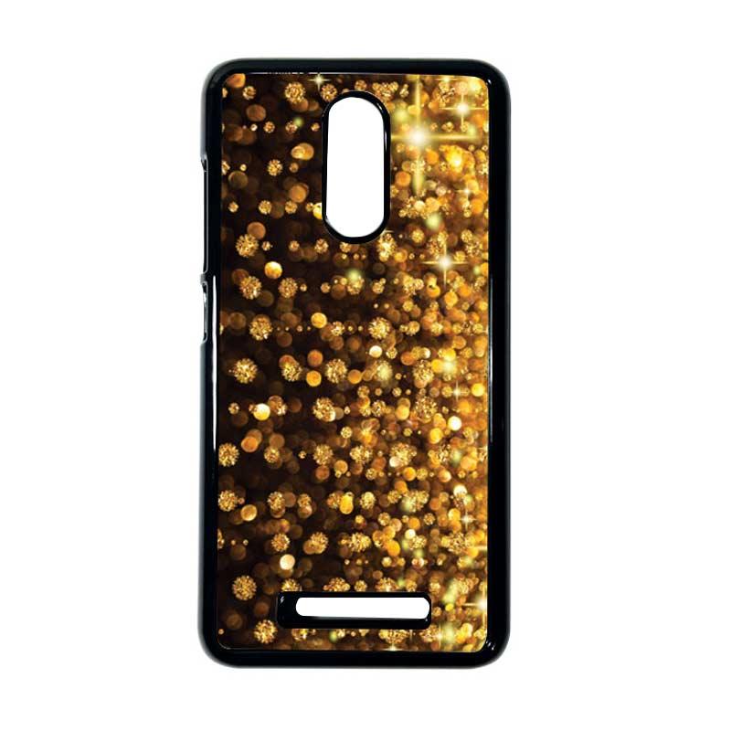 HEAVENCASE Motif Batik Kayu Bokeh 05 Hitam Hardcase Casing for Xiaomi Redmi Note 3