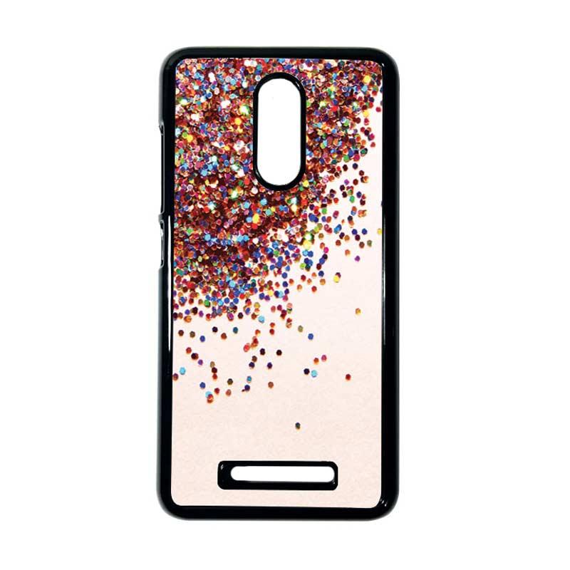 HEAVENCASE Motif Batik Kayu Bokeh 06 Hitam Hardcase Casing for Xiaomi Redmi Note 3