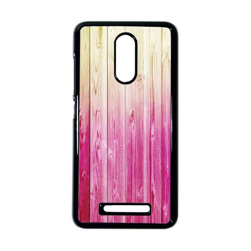 HEAVENCASE Motif Batik Kayu Bokeh 09 Hitam Hardcase Casing for Xiaomi Redmi Note 3