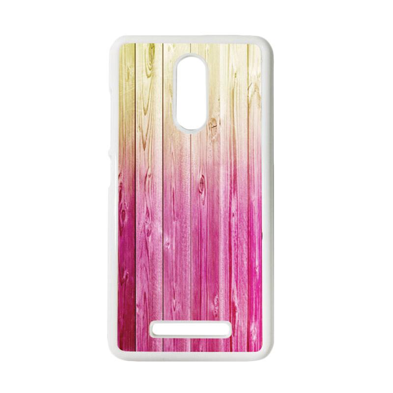 HEAVENCASE Motif Batik Kayu Bokeh 09 Putih Hardcase Casing for Xiaomi Redmi Note 3