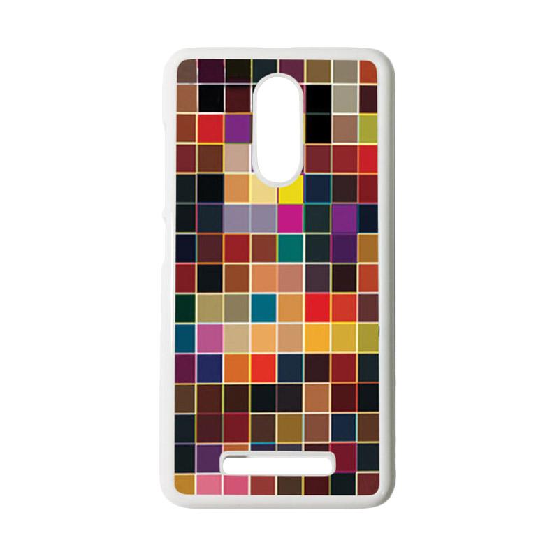 HEAVENCASE Motif Batik Kayu Bokeh 13 Putih Hardcase Casing for Xiaomi Redmi Note 3