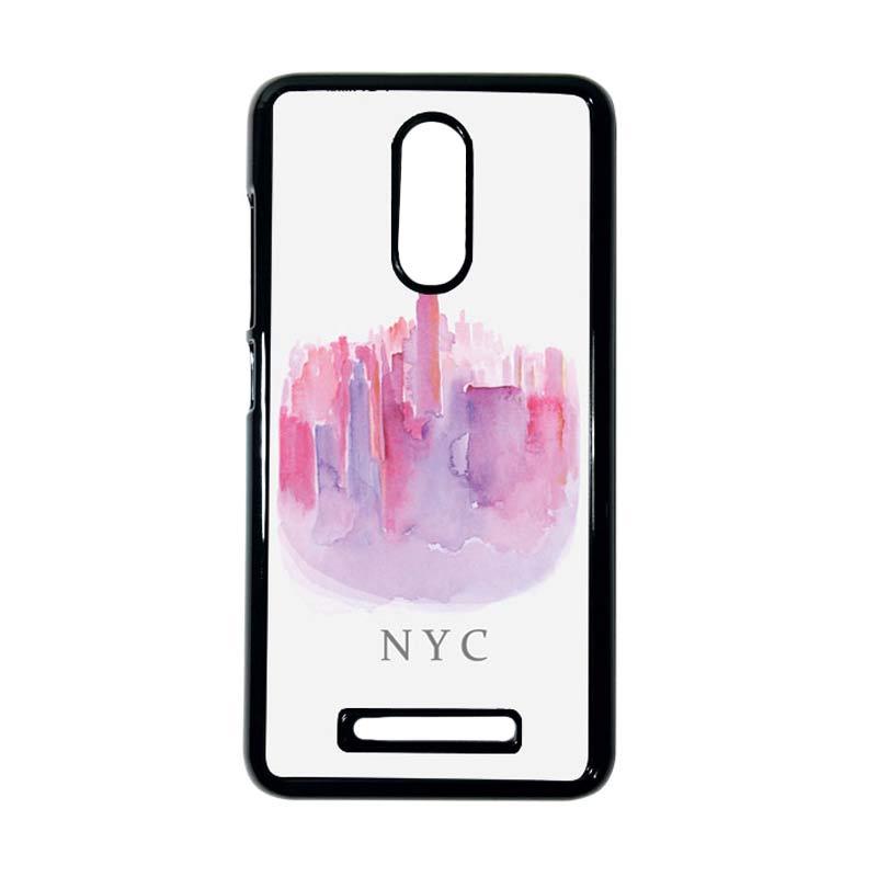 HEAVENCASE Motif Batik Kayu Bokeh 14 Hitam Hardcase Casing for Xiaomi Redmi Note 3