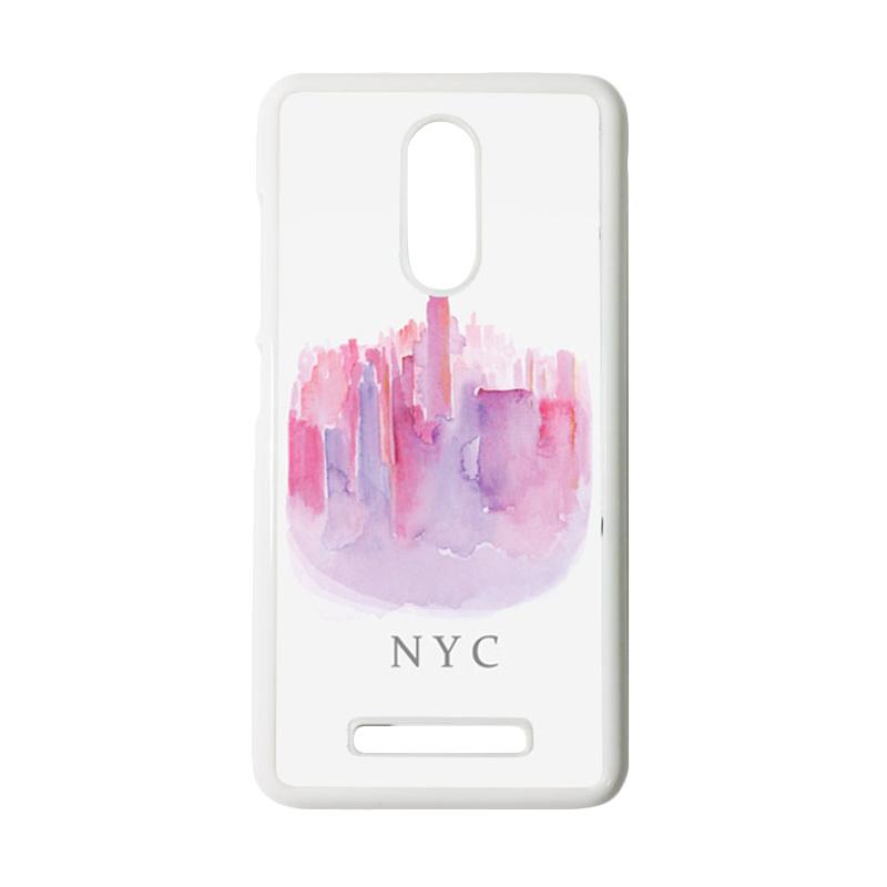 HEAVENCASE Motif Batik Kayu Bokeh 14 Putih Hardcase Casing for Xiaomi Redmi Note 3