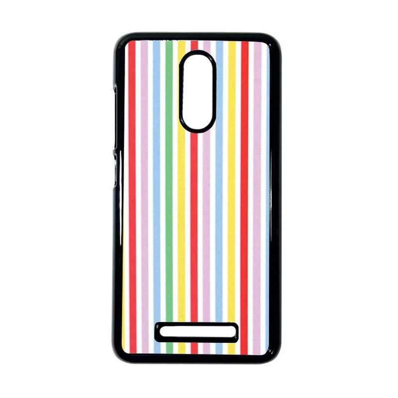 HEAVENCASE Motif Batik Kayu Bokeh 15 Hitam Hardcase Casing for Xiaomi Redmi Note 3