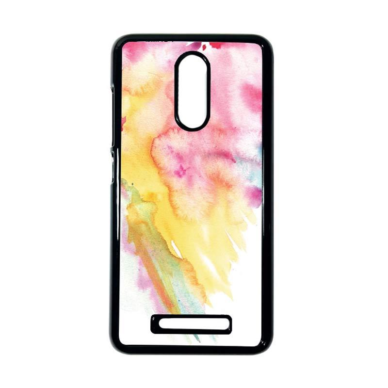 HEAVENCASE Motif Batik Kayu Bokeh 16 Hitam Hardcase Casing for Xiaomi Redmi Note 3