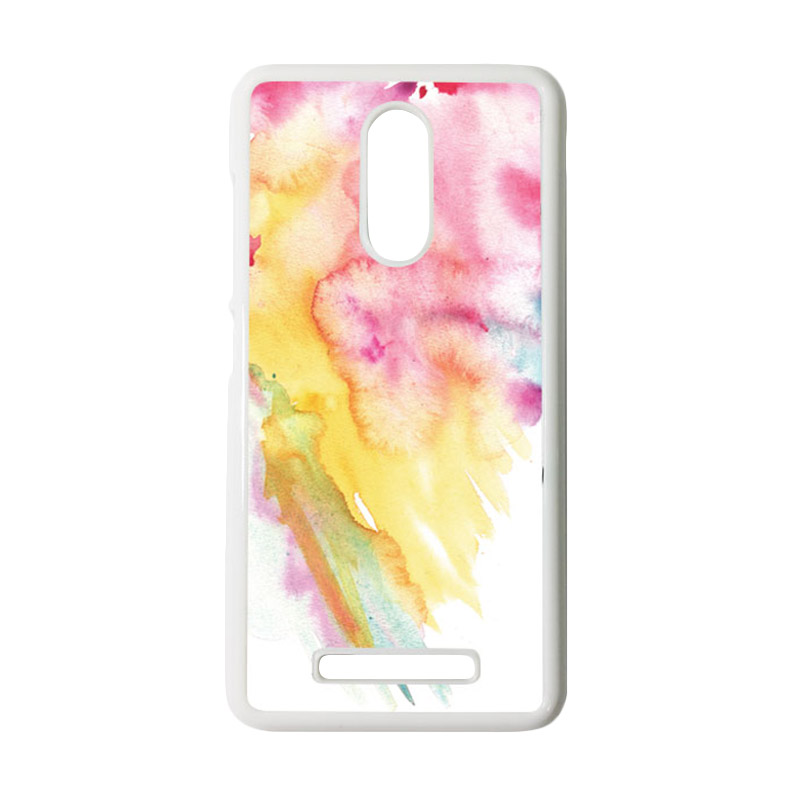HEAVENCASE Motif Batik Kayu Bokeh 16 Putih Hardcase Casing for Xiaomi Redmi Note 3