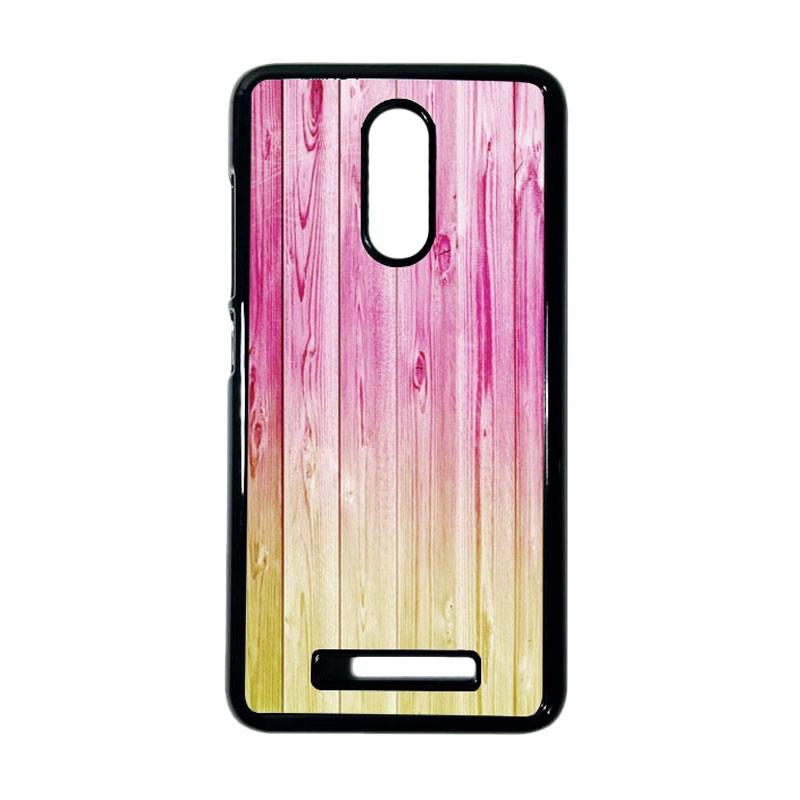 HEAVENCASE Motif Batik Kayu Bokeh 18 Hitam Hardcase Casing for Xiaomi Redmi Note 3