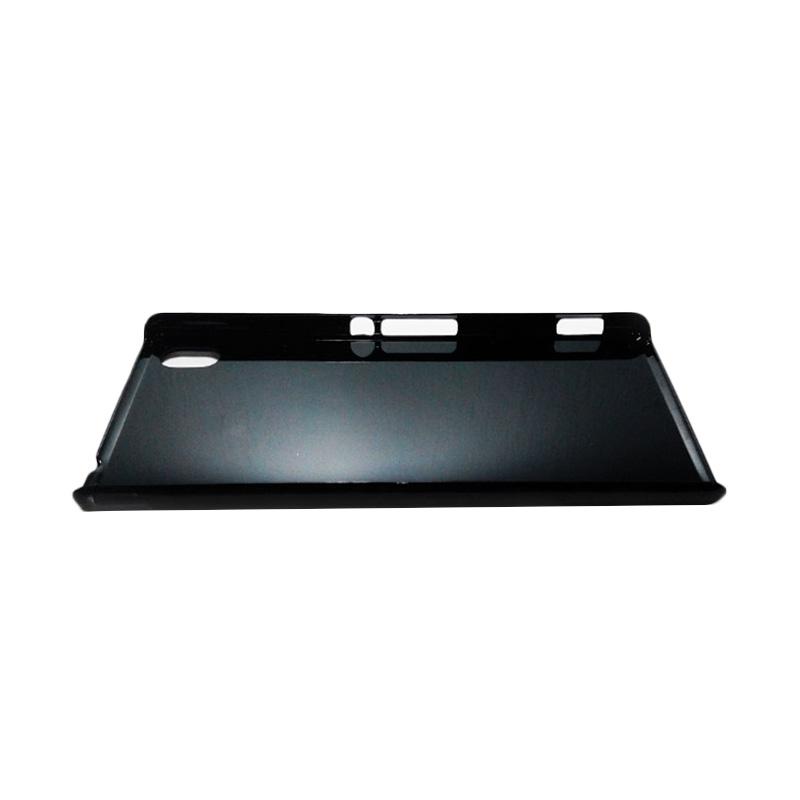 HEAVENCASE Motif Batik Kayu Chevron 06 Hardcase Casing for Sony Xperia M4 Aqua - Hitam.